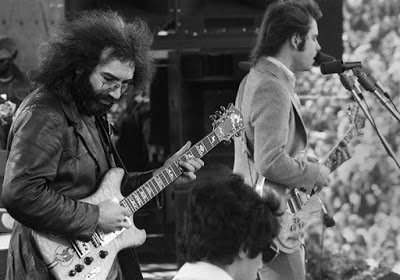 Jerry, Ned, and Bob at Kezar Stadium on March 23, 1975 (photo by Peter Simon)