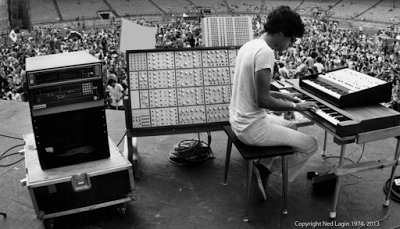 Ned setting up at Roosevelt Stadium on August 6, 1974