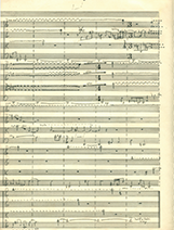 String quartet score image 2 - photo by Ned Lagin